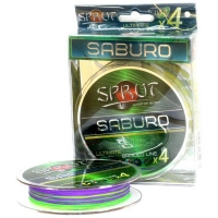 Плетенка SPRUT Saburo Soft Ultimate Braided Line x4 95 м 0,12 мм 9,1 кг