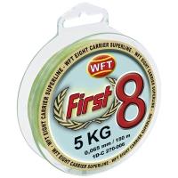 Плетенка WFT First 8 Mint 150 м 10 кг 0,10 мм