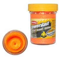 Паста BERKLEY PowerBait Natural Scent Glitter TroutBait аттр. Сыр цв. Флюоресцентный оранжевый
