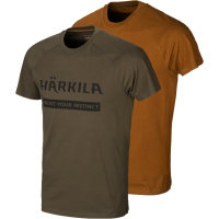 Футболка HARKILA Logo T-Shirt (2 шт.) цвет Willow green / Rustique clay