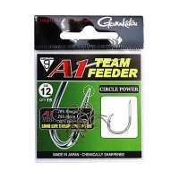 Крючок одинарный GAMAKATSU A1 Team Feeder Circle Power № 10 (15 шт.)