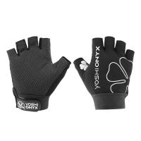 Перчатки YOSHI ONYX цвет черный (5 открытых пальцев)