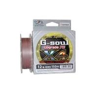 Плетенка YGK Real Sports G-Soul Upgrade PEx4 150 м цв. серый / красный # 0,8