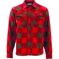 Рубашка SIMMS Heavy Weight Flannel цвет Ruby Plaid