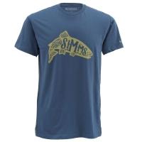 Футболка SIMMS Woodblock Trout SS T-Shirt цвет Navy
