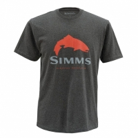 Футболка SIMMS Trout Logo SS T-Shirt цвет Charcoal Heather