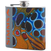 Фляжка SIMMS Flask - Artist Series 6 oz. цв. Brown Trout Rubber Legs