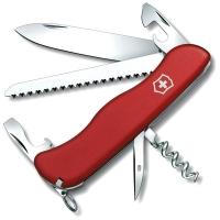 Нож VICTORINOX Rucksack р. 111 мм, 12 функций, с фиксатором лезвия, цв. красный