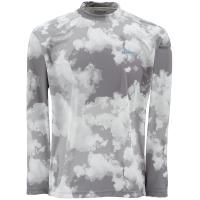 Футболка SIMMS Solarflex LS Crewneck Print цвет Grey Cloud Camo