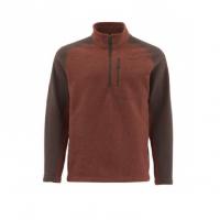 Куртка SIMMS Rivershed Sweater Quarter Zip цвет Rusty Red