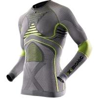Термофутболка X-BIONIC Man Radiactor Evo Uw Shirt Long Sleeve цвет Стальной / Желтый