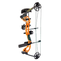 "Лук блочный QUEST Radical Package 25"" 40 Lbs 18-30 RH (Solid) цв. Orange/Black"