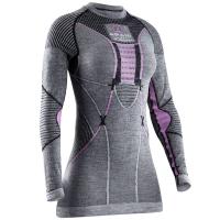 Термофутболка X-BIONIC Apani Merino By Lady Uw Shirt Long Sl R цвет Черный / Серый / Розовый