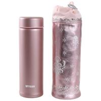 Термокружка TIGER MMP-H030 Pink 0,3 л в чехле