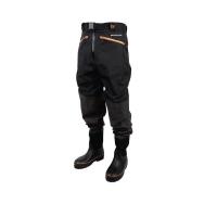 Вейдерсы SAVAGE GEAR Breathable Waist Wader Boot Foot Cleated цвет черный