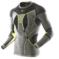 Термофутболка X-BIONIC Apani Merino By Man Uw Shirt Long Sl R цвет Черный / Серый / Слоновая кость