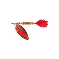 Блесна вращающаяся NORSTREAM Lonking Fly № 0 3,5 г цв. copper red dots / red tail