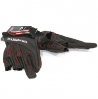 Перчатки TSURIBITO LFG-110 цв. Черный/ красный (3 открытых пальца)