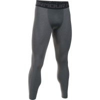 Тайтсы UNDER ARMOUR HeatGear Armour 2.0 Leggings цвет Carbon Heather / Black