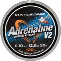 Плетенка SAVAGE GEAR HD4 Adrenaline V2 120 м 0,08 мм цв. серый