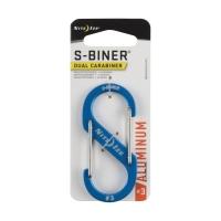 Карабин металлический NITE IZE S-Biner SlideLock р. 3 цв. синий