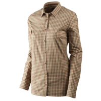 Рубашка женская HARKILA Selja Lady LS check shirt цвет Moonlight rose check