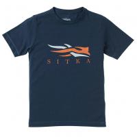 Футболка SITKA Youth Logo Tee SS цвет Eclipse
