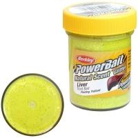 Паста BERKLEY PowerBait Natural Scent Glitter TroutBait аттр. Печень цв. Солнечный желтый