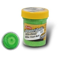 Паста BERKLEY PowerBait Extra Scent Glitter TroutBait цв. Весенний зеленый