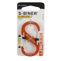 Карабин металлический NITE IZE S-Biner Carabiner р. 3 цв. оранжевый