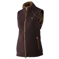 Жилет женский HARKILA Sandhem lady fleece waistcoat цвет Dark port melange