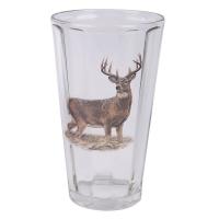 Набор стаканов TMB  Олень (прозрачное стекло, состаренное основание, махагон) (9 шт.)