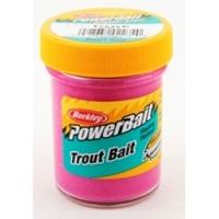 Паста форелевая BERKLEY PowerBait Biodegradable TroutBait цв. розовый