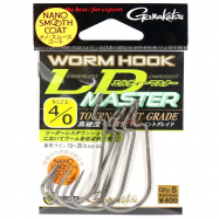 Крючок офсетный GAMAKATSU Worm Hook LD Master NSC № 1/0 (6 шт.)