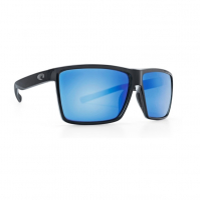 Очки COSTA DEL MAR Rincon 580 GLS р. XL цв. Shiny Black цв. ст. Blue Mirror
