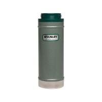 Термос STANLEY Classic Vacuum Travel Press для заваривания (тепло 4 ч/ холод 5 ч) 0,47 л цв. Зеленый
