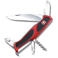 Нож VICTORINOX RangerGrip 68 р. 130 мм, 11 функций, с фиксатором лезвия, цв. красный с чёрным