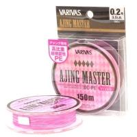 Плетенка VARIVAS Ajing Master DC-PE Vivid 150 м цв. Розовый/белый # 0,2