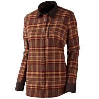 Рубашка женская HARKILA Pajala Lady LS shirt цвет Burgundy Check