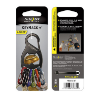 Брелок для ключей NITE IZE Key Rack с открывашкой цв. черный