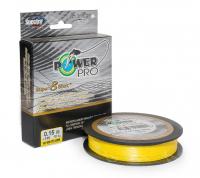 Плетенка POWER PRO S8S Yellow 135 м 0,13 мм цв. Желтый