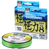 Плетенка SHIMANO Kairiki PE зеленая 150 м 0.100 мм