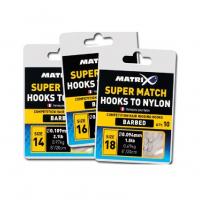 Готовая оснастка MATRIX Hooks to Nylon Super Match № 20 0,104 мм