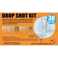 Набор оснастки SAVAGE GEAR Dying Minnow Drop Shot Pro Pack Kit (30 шт.) NL