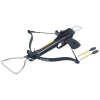 Арбалет-пистолет MAN KUNG силой 80 lbs, с упором для перезарядки цв. черный