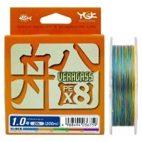 Плетенка YGK Veragass PEx8 200 м цв. Многоцветный # 1