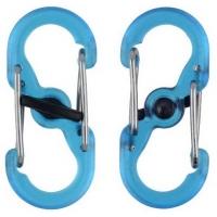Карабин пластиковый NITE IZE S-Biner MicroLock (2 шт.) цв. синий