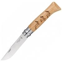 Нож складной OPINEL №8 VRI Animalia Deer (олень)