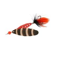 Блесна вращающаяся NORSTREAM Marble Fly № 1 4 г цв. black black / orange fly