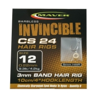 Крючок с поводком MAVER Invincible Hair Rigs CS24 кр. 16 леска 0,20 мм нагр. 3,7 кг